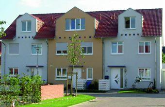 Fassadenbeschichtung Reihenhäuser