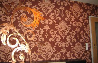 Schablonentechnik mit Vergoldung